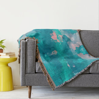 Raindrops Abstract Throw Blanket