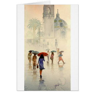 RAINDROPS, BALBOA PARK, SAN DIEGOCALIFORNIA GREETING CARD