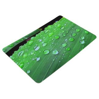 Raindrops Closeup Floor Mat
