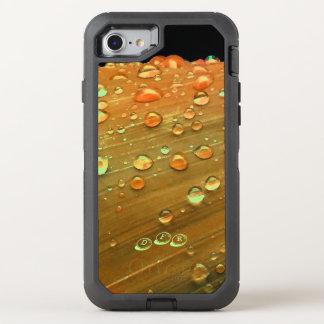 Raindrops Closeup, Spacey Rust Orange OtterBox Defender iPhone 8/7 Case