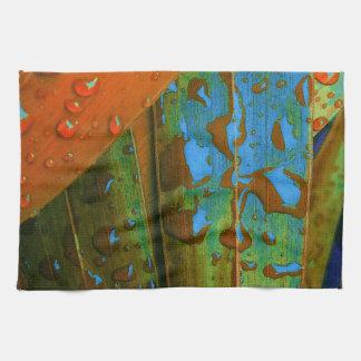 Raindrops Go Tropical Tea Towel