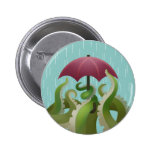 Raindrops: Lime 6 Cm Round Badge