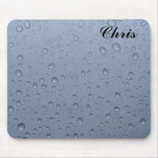 Raindrops mousepad with name