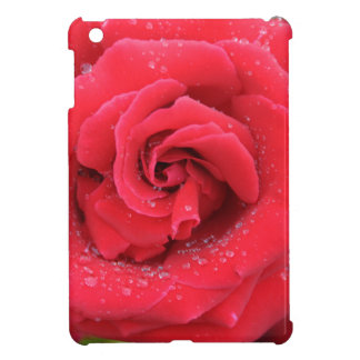 Raindrops on a Red Rose iPad Mini Cover