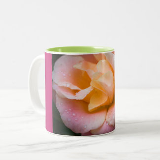 Raindrops on a rose Two-Tone coffee mug