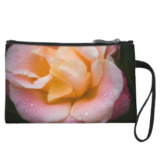 Raindrops on a rose wristlet