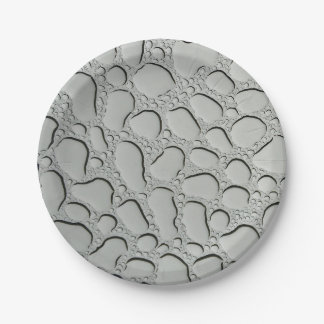 Raindrops on Glass Roof 7 Inch Paper Plate