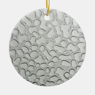 Raindrops on Glass Roof Ceramic Ornament
