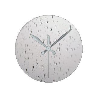 raindrops on ice-cream wallclocks