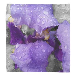 raindrops on iris bandana