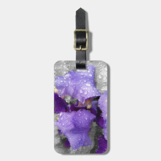 raindrops on iris luggage tag