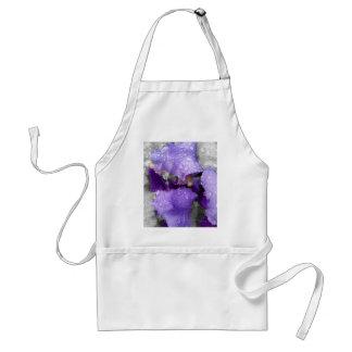 raindrops on iris standard apron