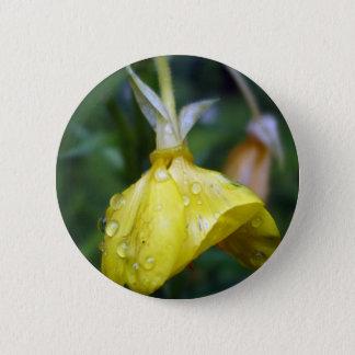 Raindrops on Yellow Tulip 6 Cm Round Badge