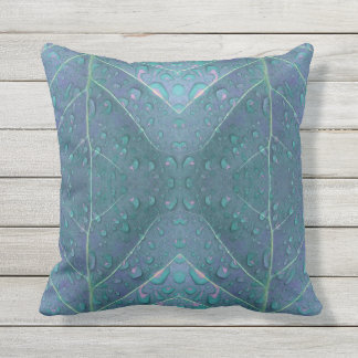 Raindrops Pattern in Blue Throw Pillow