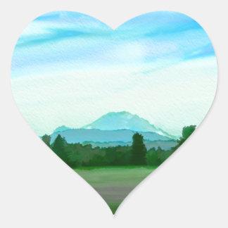 Rainer water color heart sticker