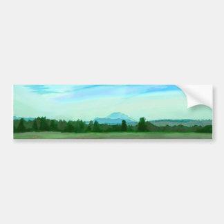 Rainer watercolor bumper sticker