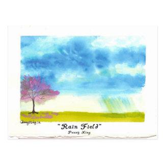 RainField Original Watercolor Painting Postcard