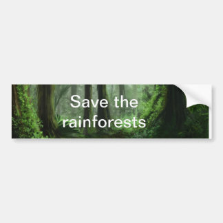 rainforest bumper sticker