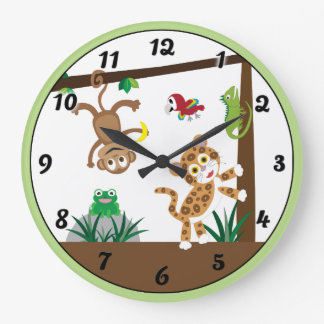 Rainforest Jungle Clock