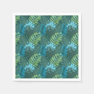 Rainforest Jungle Leaf Pattern Paper Serviettes