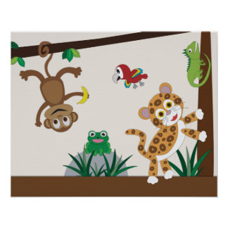Rainforest Jungle Nursery Poster