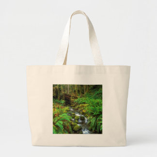 Rainforest Olympic NP Large Tote Bag