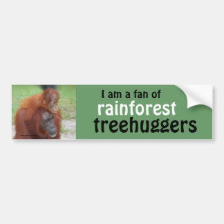 Rainforest Treehugger Bumper Sticker