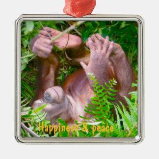 Rainforest Yoga Happy Baby Metal Ornament