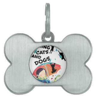 Raining Cats And Dogs Pet Tags