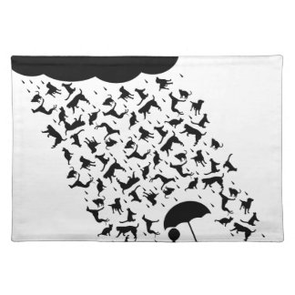 Raining Cats and Dogs Placemat
