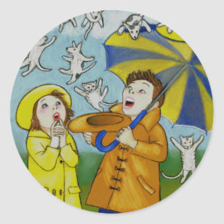 Raining Cats & Dog Sticker