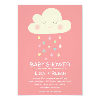 Raining Cloud Baby Shower Invitation