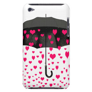 Raining love hearts iPod covers