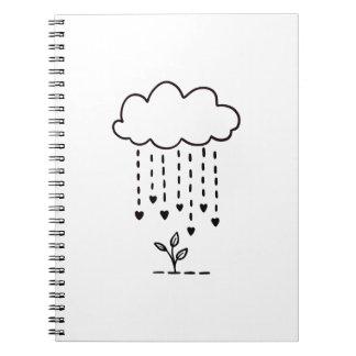 Raining love notebook