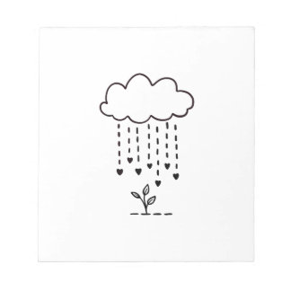 Raining love notepad