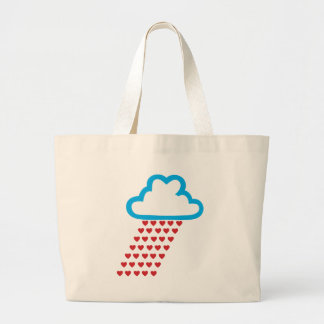 Raining Red Hearts Canvas Bags