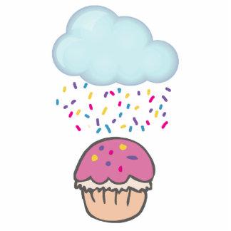 Raining Sprinkles on Cupcake Photo Cutout