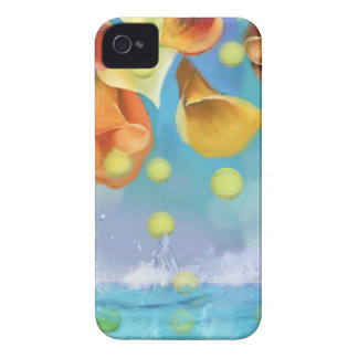 Raining tennis balls over the sea. iPhone 4 covers