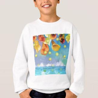Raining tennis balls over the sea. sweatshirt