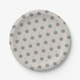 Raining Violets Paper Plates 7 Inch Paper Plate