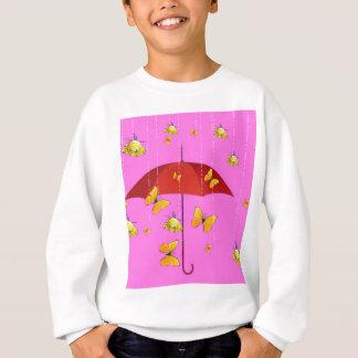 Raining Yellow Roses & Butterflies Gifts Sweatshirt