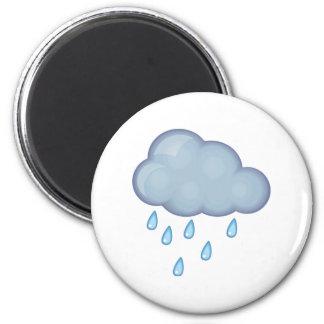 rainy day 6 cm round magnet