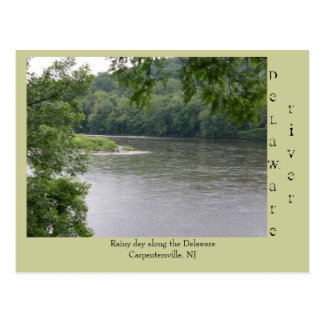 Rainy day Along the Delaware River Postcard