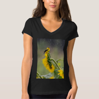 Rainy Day American Goldfinch T-Shirt