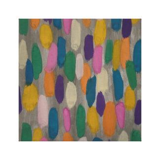 Rainy Day Brushstrokes Abstract Art Canvas Print