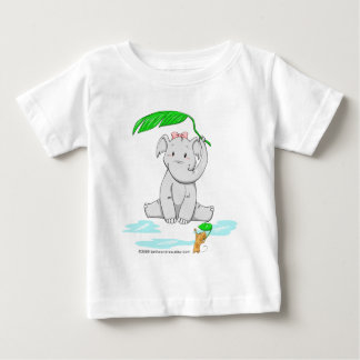 Rainy Day Elephant Baby T-Shirt