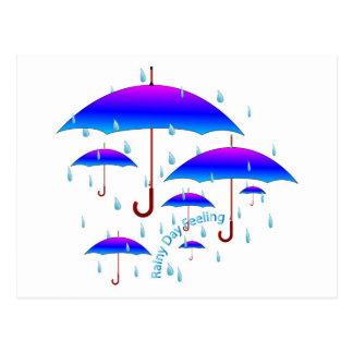 Rainy Day Feeling Postcard