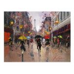 Rainy Day in Paris Postcard
