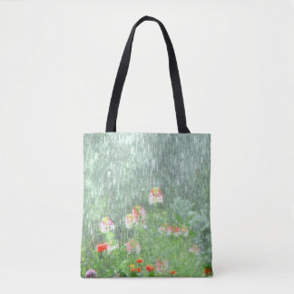Rainy Day in the Flower Garden Tote Bag
