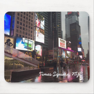 Rainy Day in Times Square New York City NYC Mouse Pad